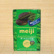 Japan Meiji RICH GREEN TEA Cocoa COOKIES Biscuits Japanese candy 51% Matcha