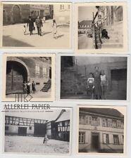 6 Fotos Hoffenheim/ Baden, 30iger Jahre, 1x später, Hof Ludwig, Sinsheim,