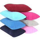Double Sided flocking Inflatable Pillow Cushion For Camping Travel Sleep Soft