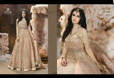 BOLLYWOOD DESIGNER DRESS ZOYA GOLD DRESS INDIAN TRADITIONAL ACTUAL PIC LISTED