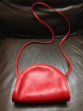 Authentic Vtg Coach Women's Leather Mini Small HandBag Purse Red Bag Made In USA