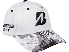 NEW Bridgestone Luau Series Collection White/Black/Green Adjustable Golf Hat/Cap
