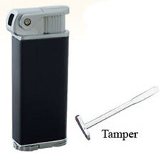 Black Eternity Refillable Angled Flame Pipe Lighter with Tamper Poker Tool 3404