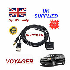 Chrysler Voyager Adaptador Multimedia 71805430 Iphone Ipod Usb & Aux Cable Negro