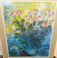 "MARC CHAGALL ""ROSES"" HUGE COLOR MATTED POSTER"