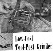How To Make Low Cost Tool Post Grinder For Metal Lathe Easy Construction #35