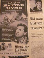 Battle Hymn, Rock Hudson, Vintage Promotional Ad
