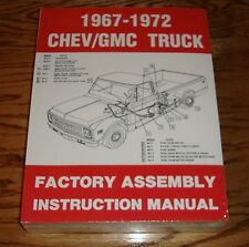 1967-1972 Chevrolet / GMC Truck Assembly Instruction Manual 67 68 69 70 71 72