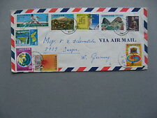 KOREA SOUTH, cover to Germany 1974, rich franking ao tennis fruit