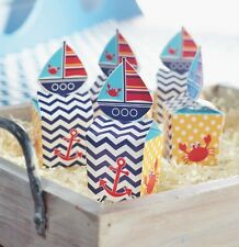 48 Nautical Sailboat Favor Boxes ~ Baby Shower ~ Beach Wedding ~ Great Value!