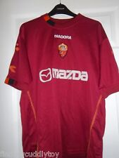 AS ROMA FOOTBALL CLUB HOME SHIRT SIZE XL 2003-2004 CASSANO #18 DIADORA MAZDA