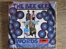 THE BEE GEES - words SINGLE 7""