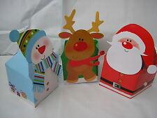 juego de 3 pequeño regalo navidad boxs,papá noel,muñeco de nieve y reno