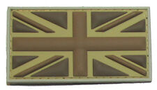 BRITISH FLAG UK GREAT BRITAIN UNION JACK DESERT 3D PVC MILITARY BADGE PATCH