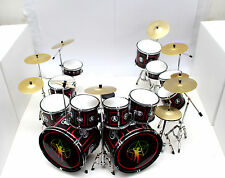 DRUM SET BLACK DOUBLE BASS MINIATURE REPLICA FOR DISPLAY ONLY