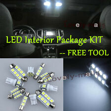 6Pcs White Map Lights Interior LED Package Kit For Toyota Corolla 2003-2013