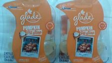 4 Glade Plugins Pumpkin Pit Stop Scented Oil Refills Pie Limited Edition 2 Packs