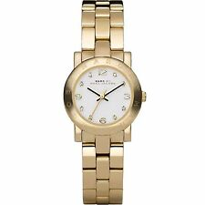 NWT NEW IN BOX Marc Jacobs Women's MBM3057 Amy Gold Tone Stainless steel Watch
