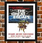 Framed The Great Escape Movie Poster A4 / A3 Size In Black / White Frame