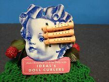 Ideal Curler TAG : For Shirley Temple,Toni, Saucy Walker Dolls Etc. / 3 Curlers