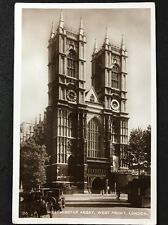 RP Vintage Postcard - London #W6  - Westminster Abbey, West Front