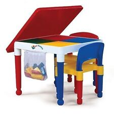 Tot Tutors Kids Building Activity Table Legos Blocks 2 Chair Cover Play Boy Girl