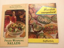 Rare Vintage Lot 2 Cookbook Recipe BOOKLETS Country Cooking Swedish Smorgasbord