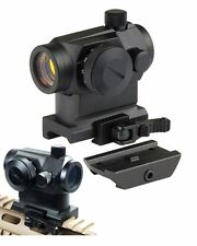 Hunting Airsoft Micro 1X24 Reflex Red Green Dot Scope Sight with QD Quick Rise