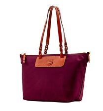 NEW!  DOONEY & BOURKE LEATHER TRIMMED NYLON TOTE BAG SHOPPER FW012 BX MSRP $168