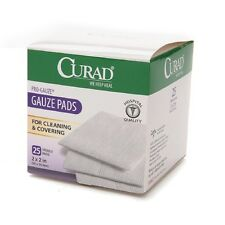 """Curad Sterile Pro Gauze Pads 2"""" x 2"""" 25 ea (Pack of 5)"""