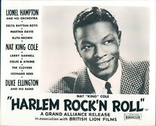 HARLEM ROCK'N  ROLL REVUE ORIGINAL LOBBY CARD NAT KING COLE PORTRAIT PHOTO 1956