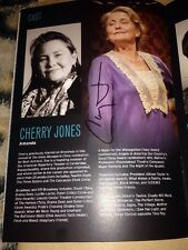 CHERRY JONES SIGNED THE GLASS MENAGERIE THEATRE PROGRAMME 24 & TRANSPARENT