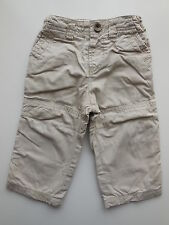 Zara Baby girl or boy cotton cargo pants size 0 Fits 6-9 mths AS NEW