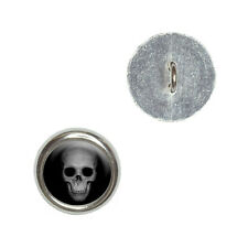 Human Skull - Front View - Metal Craft Sewing Novelty Buttons Set of 4