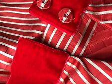 Marc Jacobs Couture New Red silk pleated Full skirt below knee size 10 M L