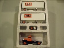 STS MOTOR FREIGHT DOUBLES WINROSS TRACTOR TRAILER DIECAST