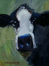 KYLE BUCKLAND COW CATTLE FARM STEER DAIRY PAINTING INTERIOR ART WHIMSICAL FUN