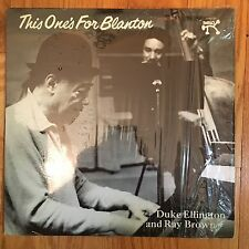 Duke Ellington and Ray Brown, This One's For Blanton, Pablo 2310-721, w/book NM