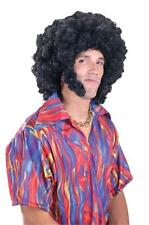 70S DISCO BIG BLACK AFRO WIG SIDEBURNS COSTUME DRESS FW92284