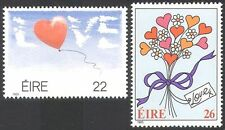 Ireland 1985 LOVE/Greetings/Flowers/Balloon/Hearts 2v set n14021