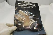 Nikon FG The programmed SLR that's really four superb cameras in one booklet