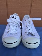 Converse Jack Purcell White Canvas Sneakers Shoes US Junior Size 5