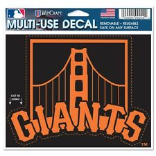 MLB San Fransisco Giants Color Die-Cut Decal / Car Sticker Cut to Logo