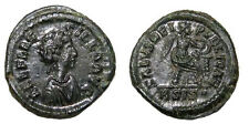 HIGH QUALITY ROMAN COIN, AELIA FLACILLA , wife of Theodosius I, AE4, RARE(R2)+++