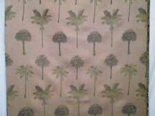 Vintage Tropical Fabric Palm Trees Botanical Upholstery Drapery BTY 56w 25 avail