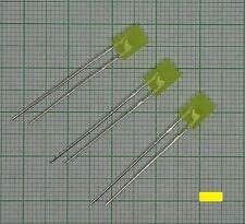 10 X Led giallo Colori + Resistenza Piatto rettangolare, 2x5x7mm) - E216