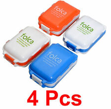 4 Pcs Imported Folca Organiser Storage Box for Medicines, Pills, Tablets