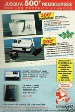 Publicité advertising 1993 Les Robots de cuisine et ménagers  Kenwood