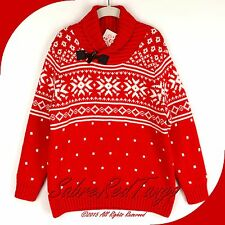 NWT HANNA ANDERSSON SNOWY SWEDEN NORDIC JACQUARD SWEATER APPLE RED SNOW 110 6