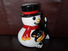Lorna Bailey Christmas Cat With Snowman Large size Signed Underneath New